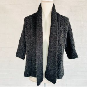 LOFT Wool Cardigan 3/4 Sleeve
